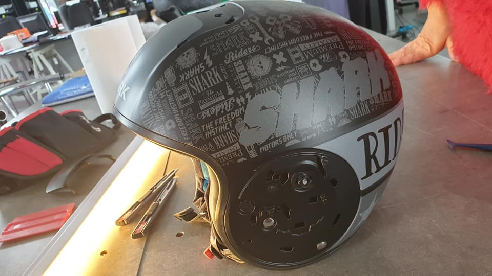 customisation casque de moto en Vendée