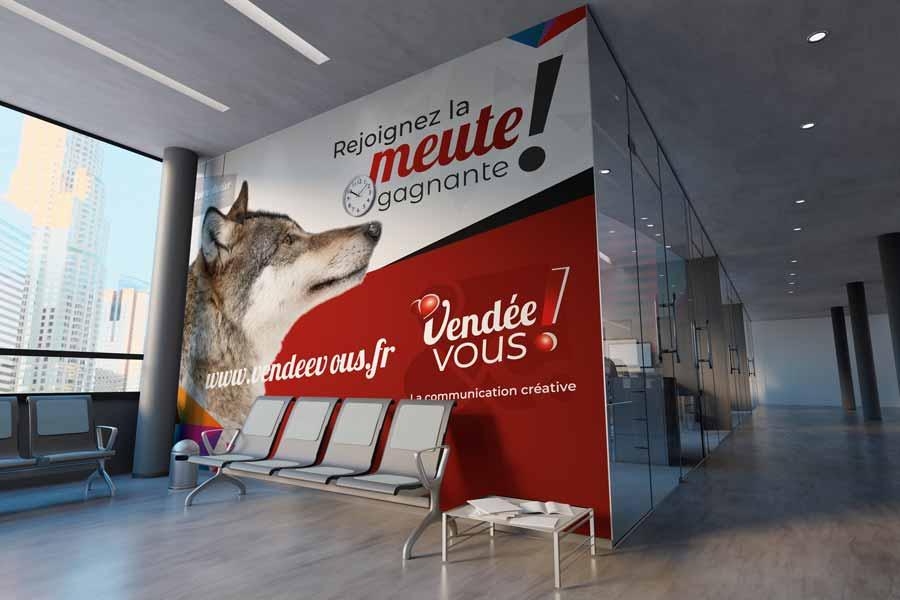 Wall wrapp pour personalisation murale d'un hall d'accueil