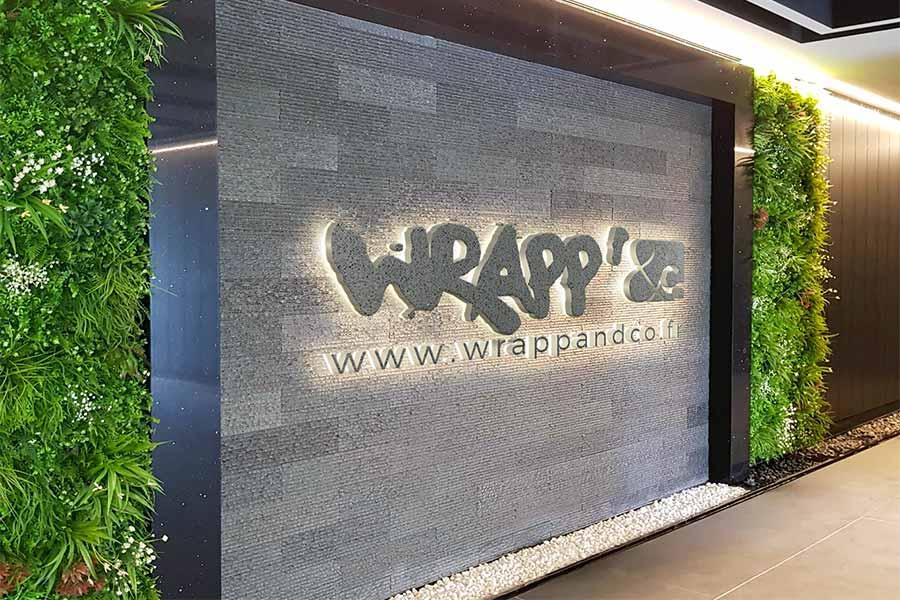 Wall wrapp pour personalisation murale d'une entreprise