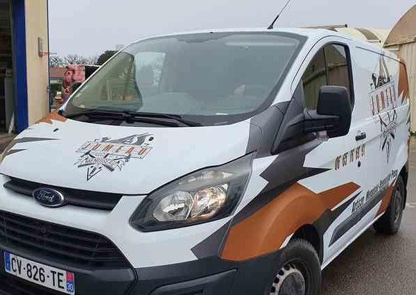 Wrapping utilitaire ford aux Sables d'Olonne en Vendée