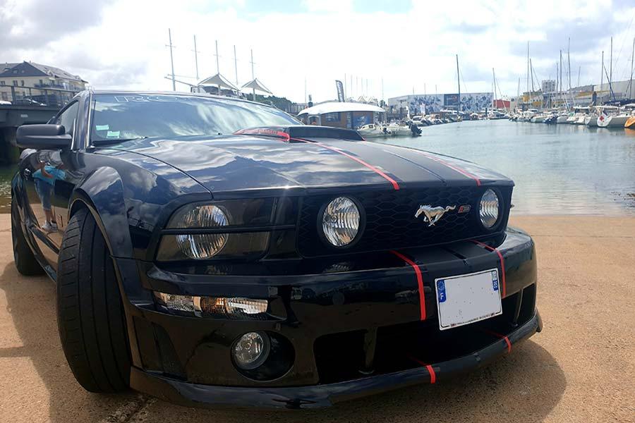 Wrapping Ford Mustang aux Sables d'Olonne en Vendée