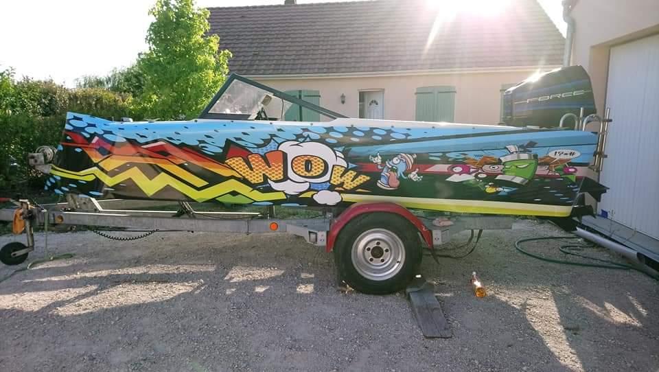 covering bateau pop art aux Sables d'Olonne en Vendée