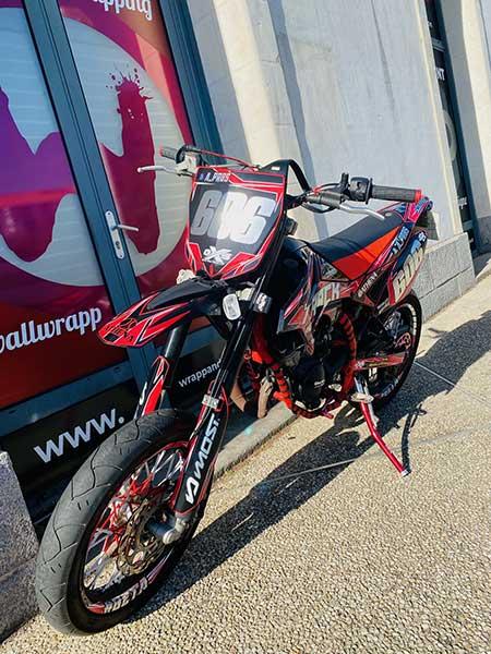 Covering moto 50 BETA supermotard